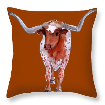 Texas Longhorn Branded  Throw Pillow