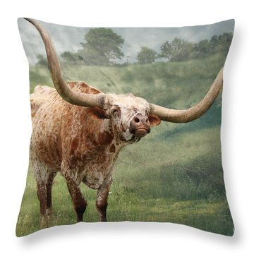 Texas Longhorn - Pride Throw Pillow