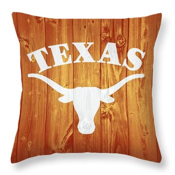Texas Longhorns Barn Door Throw Pillow