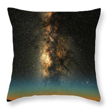 Texas Milky Way Throw Pillow