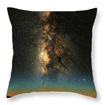 Throw Pillow featuring the photograph Texas Milky Way by Larry Landolfi