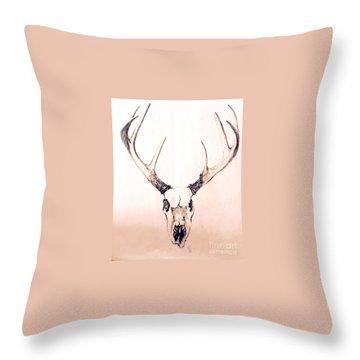 Texas Mount Deer Throw Pillow