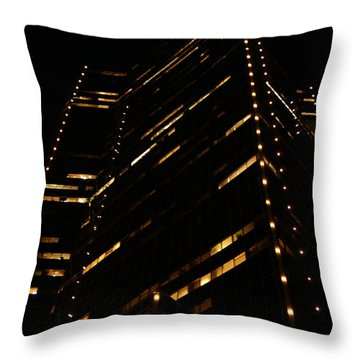Texas Night Throw Pillow by Linda Shafer