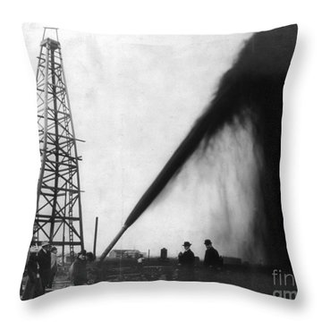Texas: Oil Derrick, C1901 Throw Pillow by Granger