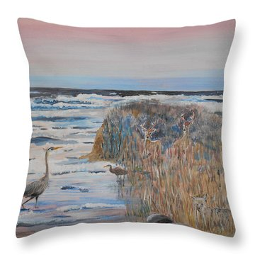 Texas - Padre Island Throw Pillow