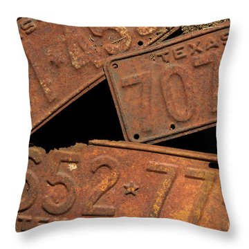 Texas Plates Throw Pillow
