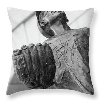 Texas Rangers Little Boy Statue Throw Pillow
