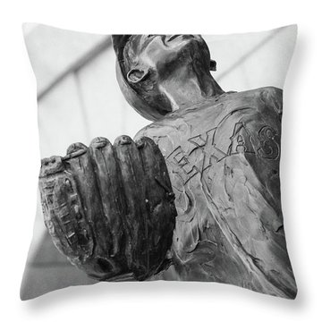 Texas Rangers Little Boy Statue Throw Pillow
