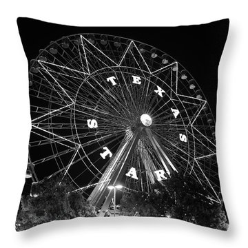 Texas Star 061116 V2bw Throw Pillow