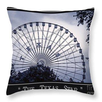 Texas Star In Blue Throw Pillow
