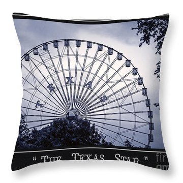 Texas Star In Blue Throw Pillow