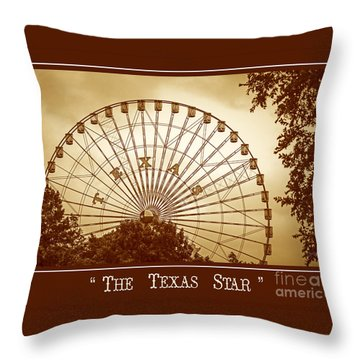 Texas Star In Gold Throw Pillow