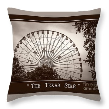 Texas Star In Sepia Throw Pillow