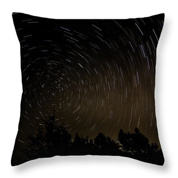 Texas Star Trails Throw Pillow