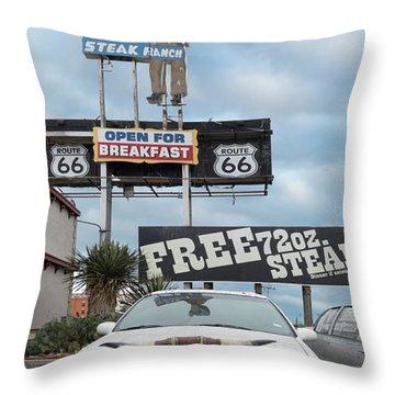 Texas Steak House Kitsch  Throw Pillow