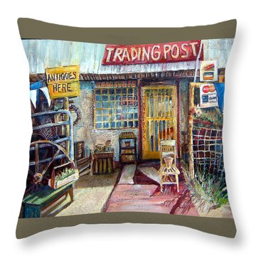 Texas Store Front Throw Pillow