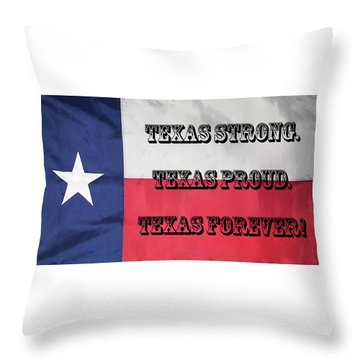 Throw Pillow featuring the digital art Texas Strong by Joe Paul