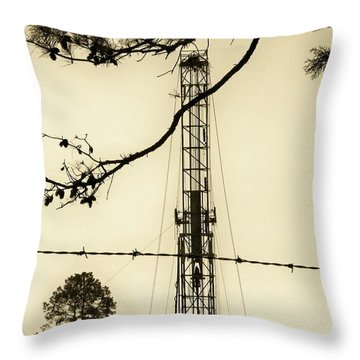 Throw Pillow featuring the photograph Texas Tea by Betty Northcutt