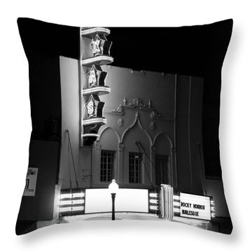 Texas Theater Oak Cliff Bw Throw Pillow