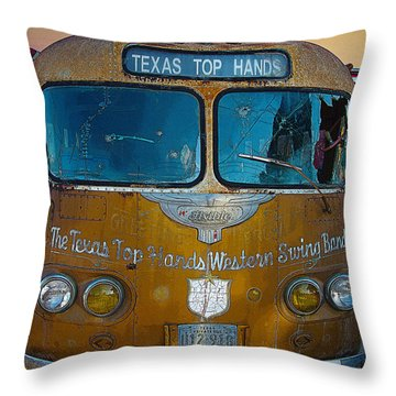 Texas Top Hands Throw Pillow by Jim Mathis