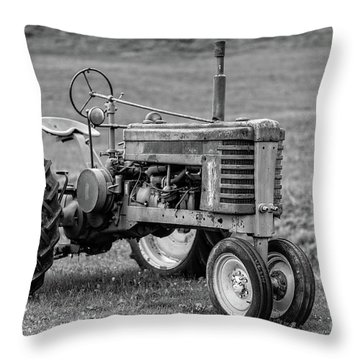 Texas Tractor Throw Pillow