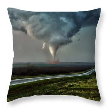 Texas Twister Throw Pillow