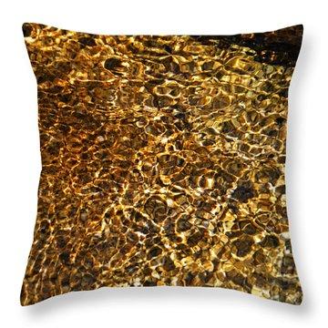 Throw Pillow featuring the photograph Texture Of A Stream by Lynda Lehmann