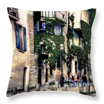 Texture Of Life In Paris Throw Pillow