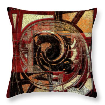 Textured Abstract Throw Pillow