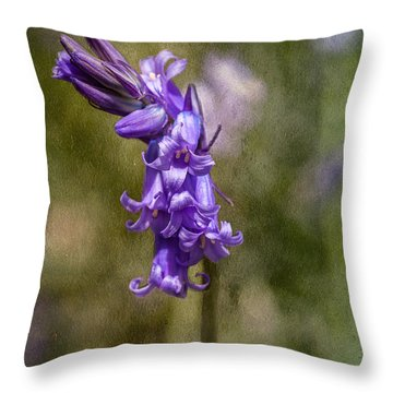 Textured Bluebell Throw Pillow