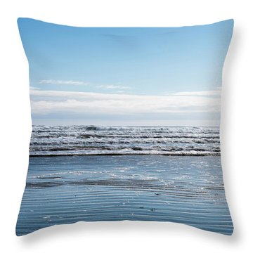 Textured Blues Throw Pillow