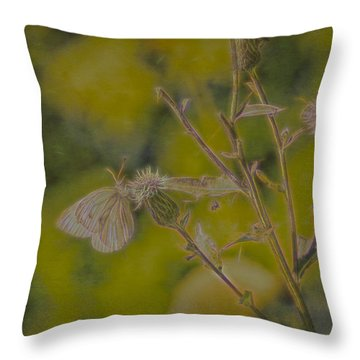 Textured Butterfly 1   Throw Pillow