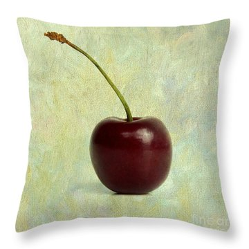 Textured Cherry. Throw Pillow
