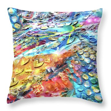 Textured Color Play 2 Throw Pillow