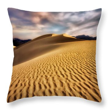 Textured Dunes  Throw Pillow by Nicki Frates