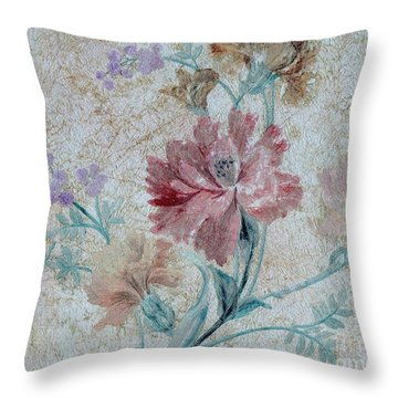 Textured Florals No.1 Throw Pillow