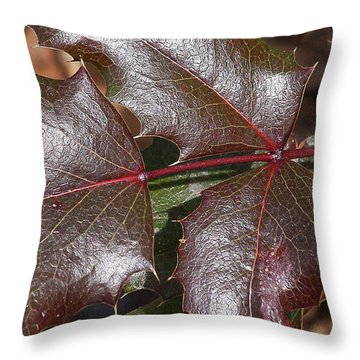 Throw Pillow featuring the photograph Textured Leaves by Doris Potter