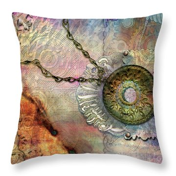 Textured Past Throw Pillow