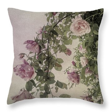 Textured Roses Throw Pillow