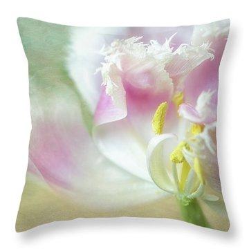 Textured Tulip Throw Pillow