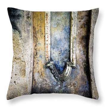 Textured Wall Throw Pillow by Marion McCristall