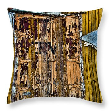 Textured Wall Throw Pillow by Ray Laskowitz - Printscapes