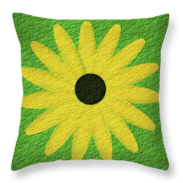 Textured Yellow Daisy Throw Pillow