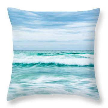 Textures In The Waves Throw Pillow by Shelby  Young