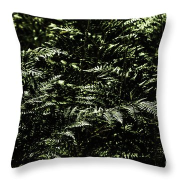 Textures Of A Rainforest Throw Pillow