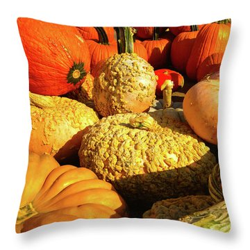 Textures Of Fall Throw Pillow