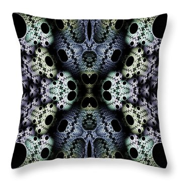 Texturized  Throw Pillow by Lea Wiggins