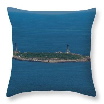 Thacher Island Lights Throw Pillow