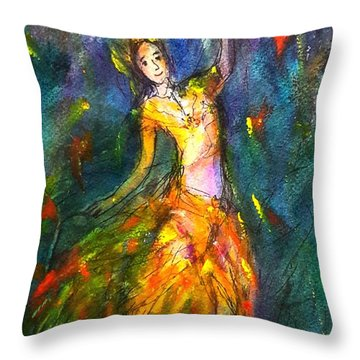 Thai Dancing Throw Pillow
