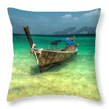Thai Longboat  Throw Pillow